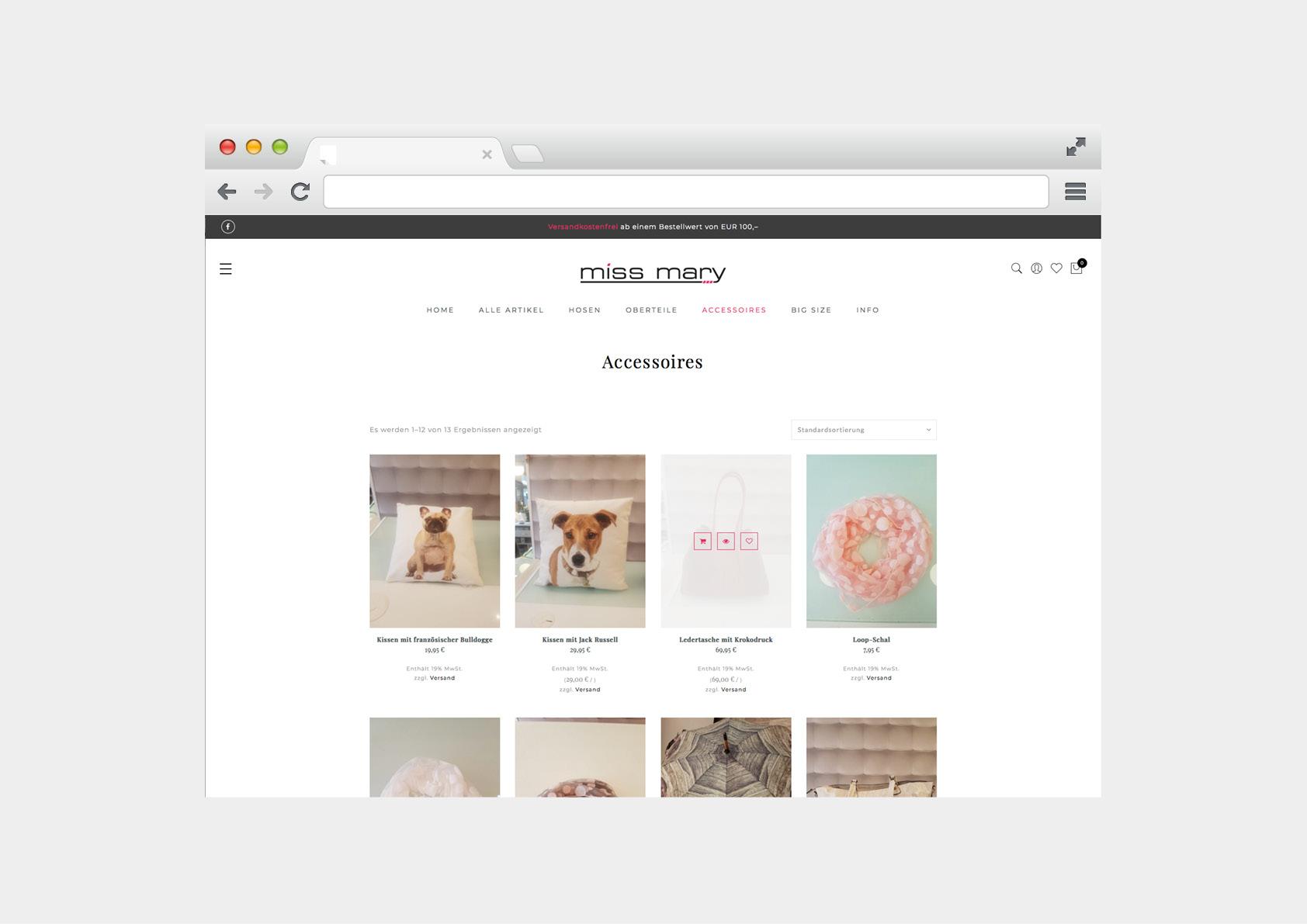 Webshop und Co: Miss Mary Trendstore Trier