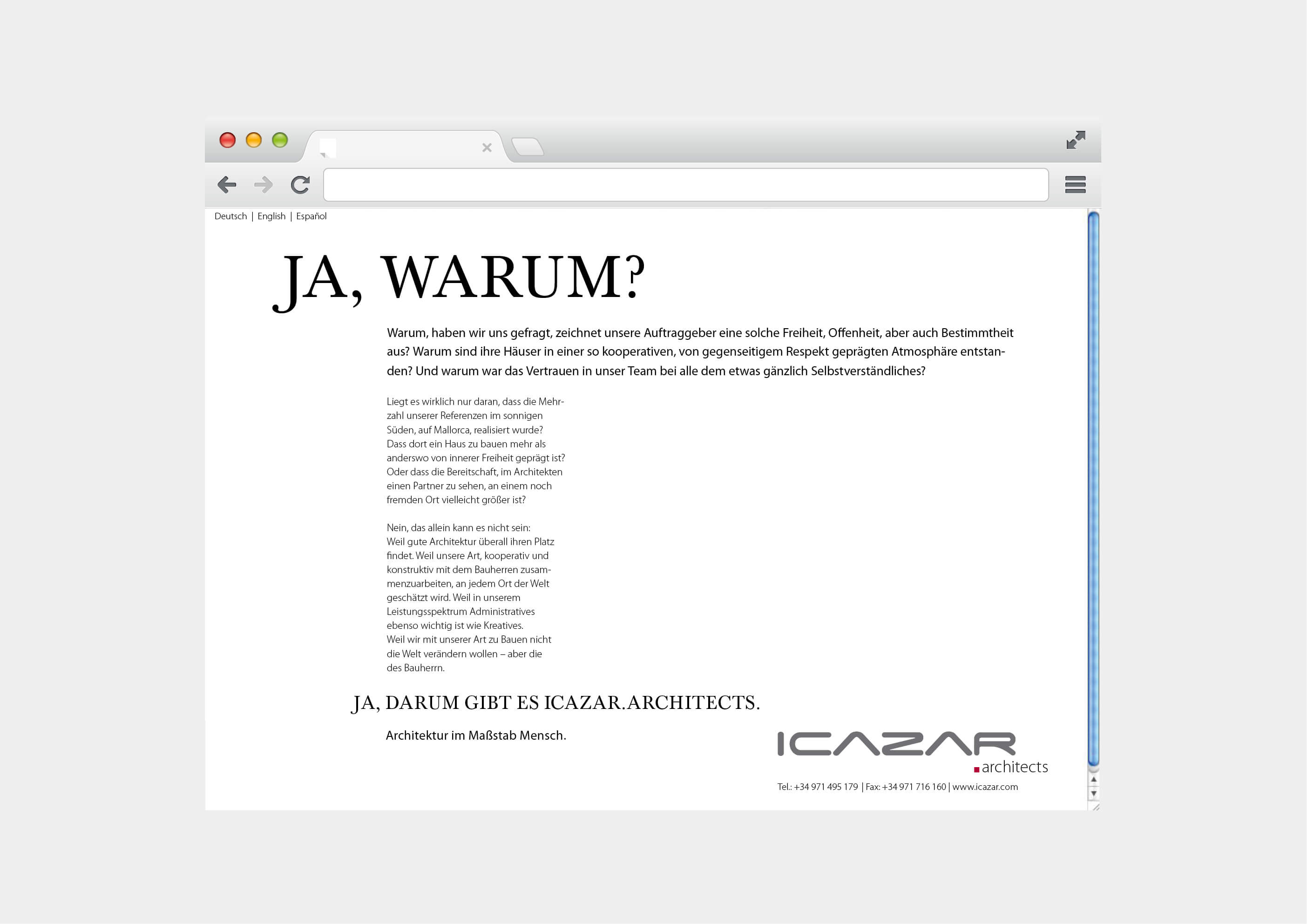 Website ICAZAR Architects