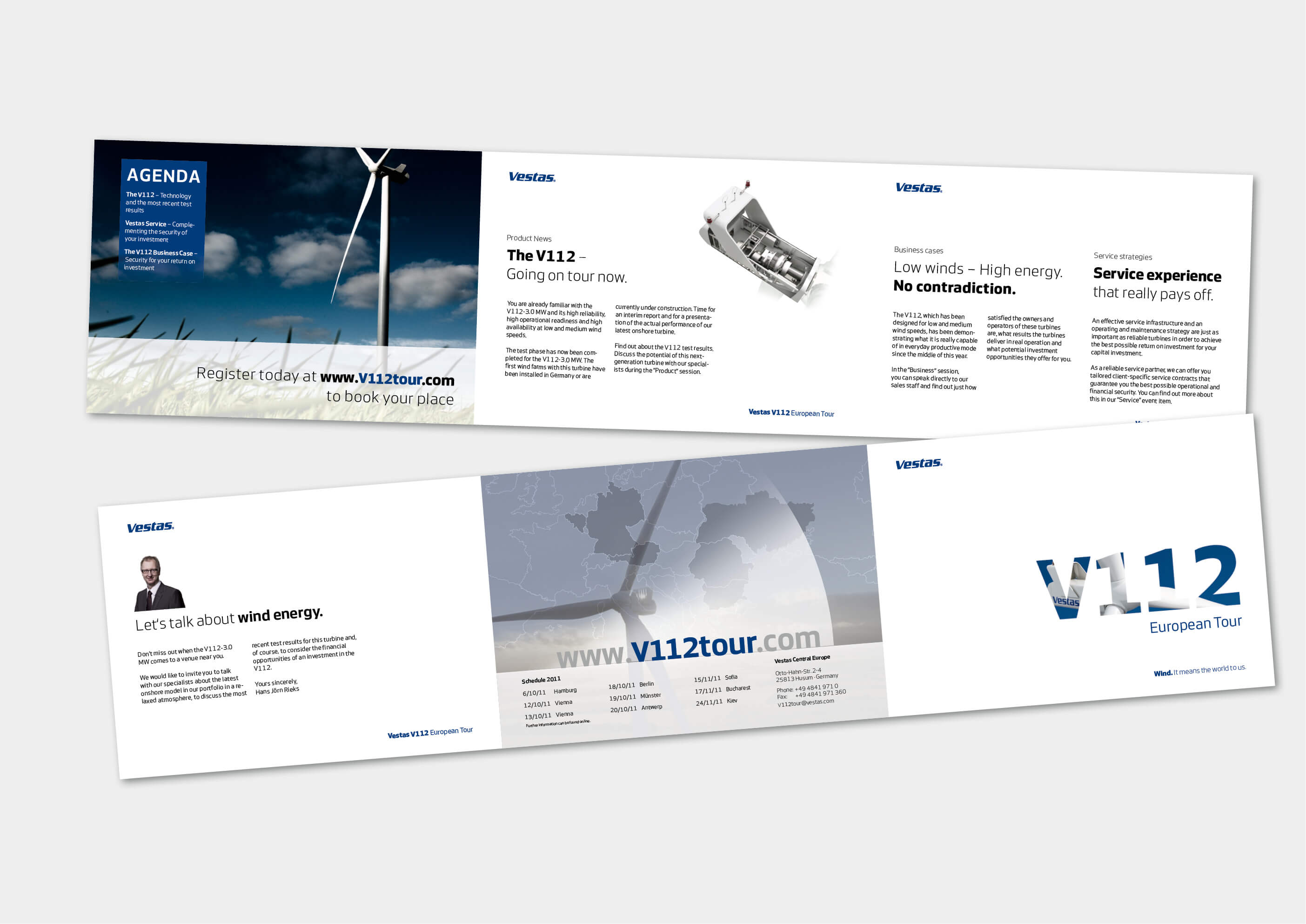 vestas – wind means world to us - apfelgrafik, Einladung